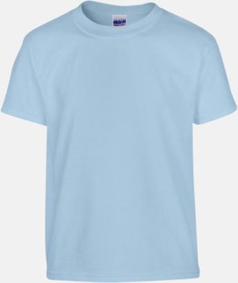 Ljusblå (barn) Fina bomulls t-shirts för herr, dam & barn med reklamtryck