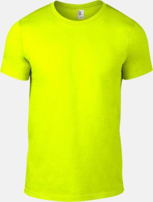 Neon Gul (herr) Snygga bas t-shirts för herr, dam & barn - med reklamtryck