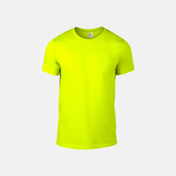 Neon Yellow (herr) Snygga bas t-shirts för herr & dam - med reklamtryck