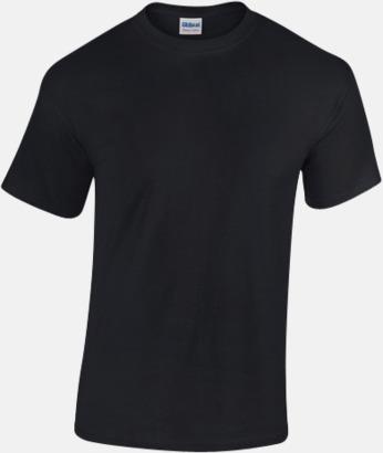 Svart (herr) Fina bomulls t-shirts för herr, dam & barn med reklamtryck