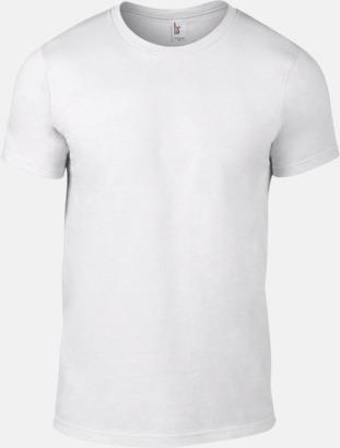Vit (herr) Snygga bas t-shirts för herr, dam & barn - med reklamtryck