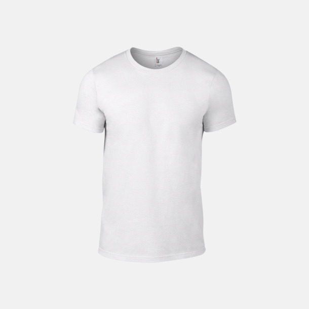 Vit (herr) Snygga bas t-shirts för herr & dam - med reklamtryck