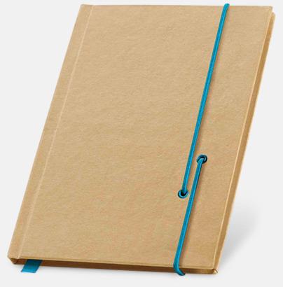 Natur / Ljusblå Miljövänliga notisböcker med band - med reklamtryck
