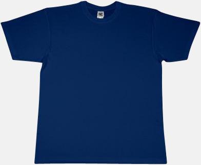 Marinblå Extra fina t-shirts i herr-, dam- och barnmodell med reklamtryck