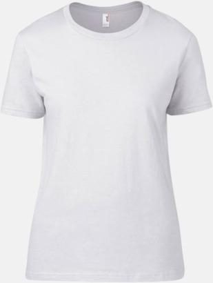 Vit (dam) Snygga bas t-shirts för herr, dam & barn - med reklamtryck