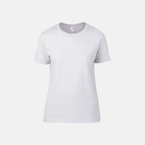 Vit (dam) Snygga bas t-shirts för herr & dam - med reklamtryck