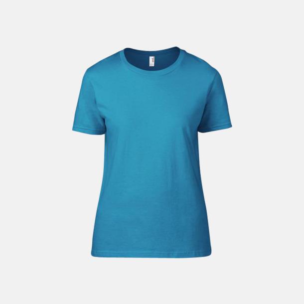 Caribbean Blue (dam) Snygga bas t-shirts för herr & dam - med reklamtryck