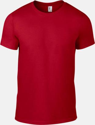 Röd (herr) Snygga bas t-shirts för herr, dam & barn - med reklamtryck