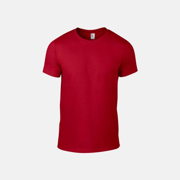 Röd (herr) Snygga bas t-shirts för herr & dam - med reklamtryck