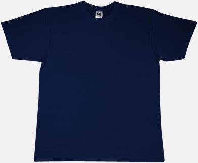 Light Navy Extra fina t-shirts i herr-, dam- och barnmodell med reklamtryck