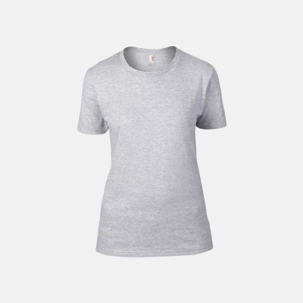 Heather Grey (dam) Snygga bas t-shirts för herr & dam - med reklamtryck