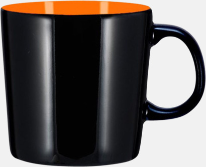 Svart/Orange (blank) Koppar med reklamtryck