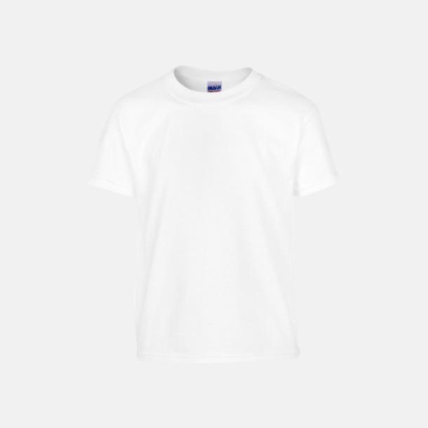 Vit (barn) Fina bomulls t-shirts för herr, dam & barn med reklamtryck