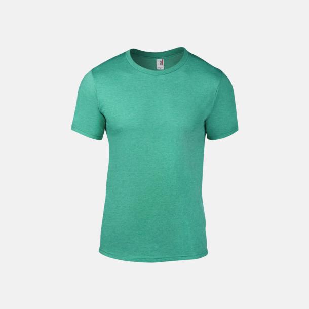 Heather Green (herr) Snygga bas t-shirts för herr & dam - med reklamtryck
