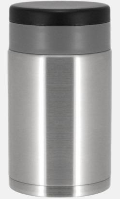 Borstad silver Matståltermosar med reklamtryck