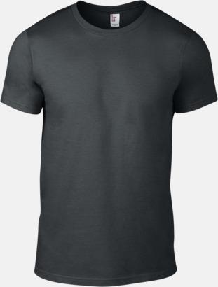 Charcoal (herr) Snygga bas t-shirts för herr, dam & barn - med reklamtryck