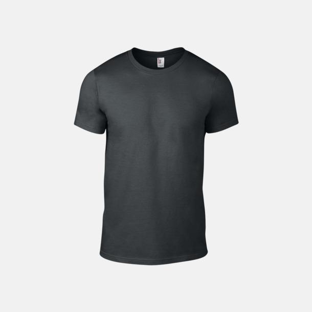 Charcoal (herr) Snygga bas t-shirts för herr & dam - med reklamtryck