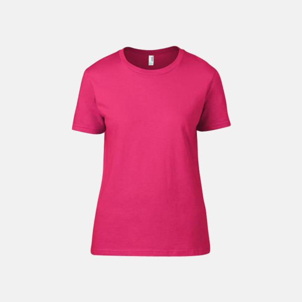 Neon Pink (dam) Snygga bas t-shirts för herr & dam - med reklamtryck