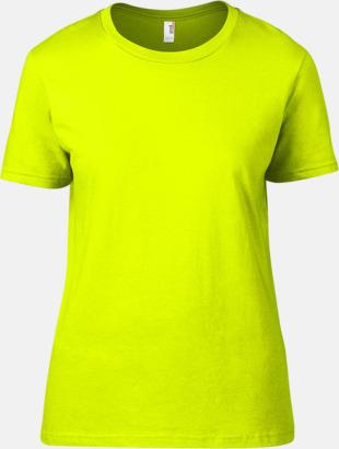 Neon Gul (dam) Snygga bas t-shirts för herr, dam & barn - med reklamtryck