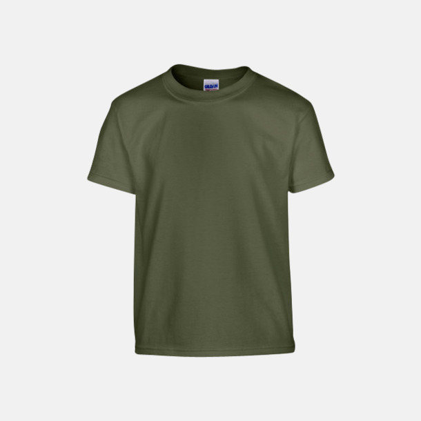 Military Green (barn) Fina bomulls t-shirts för herr, dam & barn med reklamtryck
