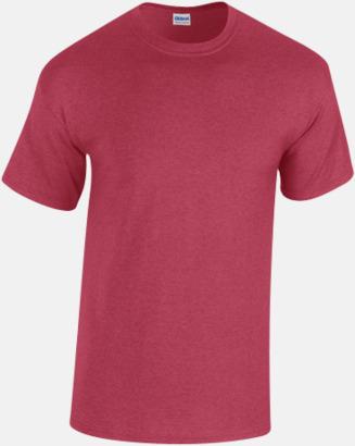 Antique Cherry Red heather (herr) Fina bomulls t-shirts för herr, dam & barn med reklamtryck