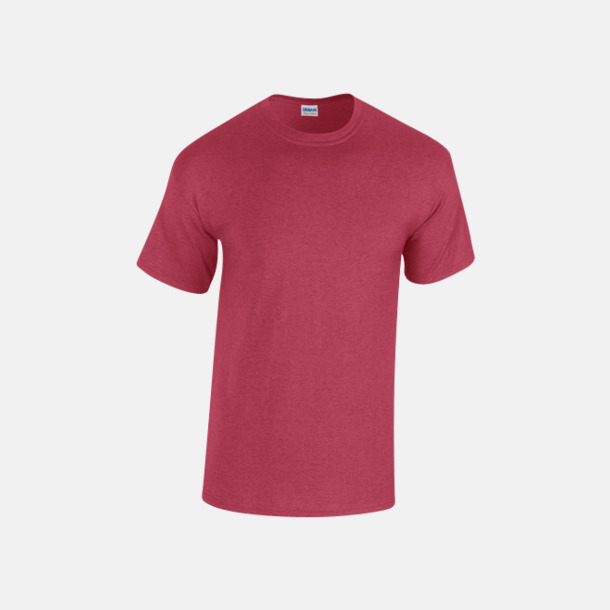 Antique Cherry Red heather (herr) Fina bomulls t-shirts för herr, dam & barn med reklamtryck