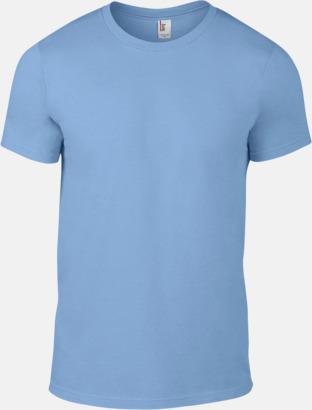 Ljusblå (herr) Snygga bas t-shirts för herr, dam & barn - med reklamtryck