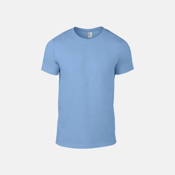 Ljusblå (herr) Snygga bas t-shirts för herr & dam - med reklamtryck