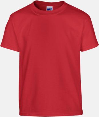 Röd (barn) Fina bomulls t-shirts för herr, dam & barn med reklamtryck