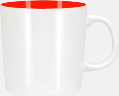 Vit/Röd (blank) Koppar med reklamtryck
