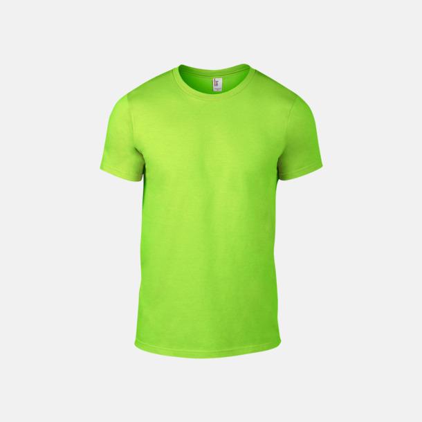 Neon Green (herr) Snygga bas t-shirts för herr & dam - med reklamtryck