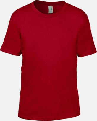 Röd (barn) Snygga bas t-shirts för herr, dam & barn - med reklamtryck
