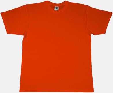 Orange Extra fina t-shirts i herr-, dam- och barnmodell med reklamtryck