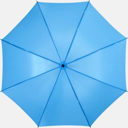 Blå Stora, automatiska paraplyer med reklamtryck