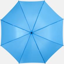 Stora, automatiska paraplyer med reklamtryck