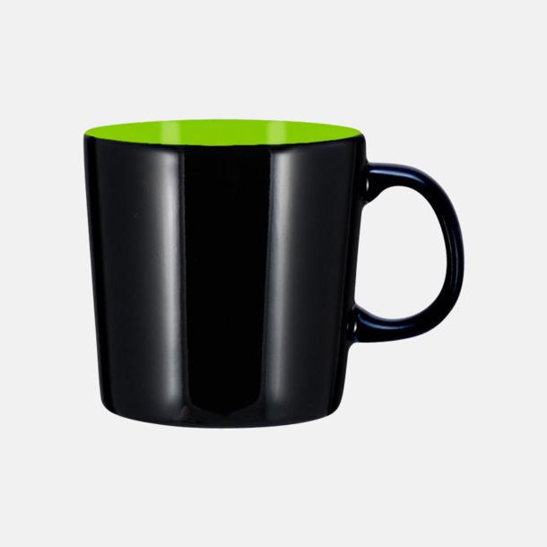Svart/Lime (blank) Koppar med reklamtryck