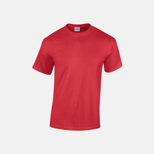 Röd (herr) Fina bomulls t-shirts för herr, dam & barn med reklamtryck
