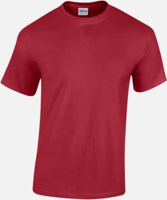 Cardinal Red (herr) Fina bomulls t-shirts för herr, dam & barn med reklamtryck