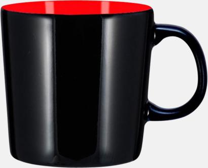 Svart/Röd (blank) Koppar med reklamtryck