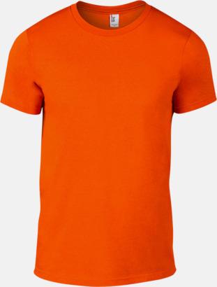 Neon Orange (herr) Snygga bas t-shirts för herr, dam & barn - med reklamtryck