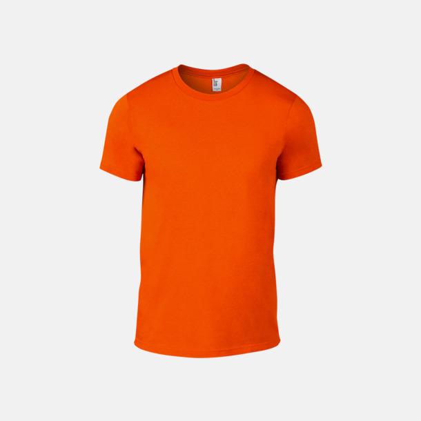 Neon Orange (herr) Snygga bas t-shirts för herr & dam - med reklamtryck