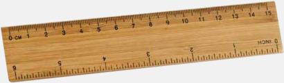 Brun 15 cm bambulinjaler med gravyr