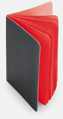 Röd Block med färgade sidor - med reklamtryck