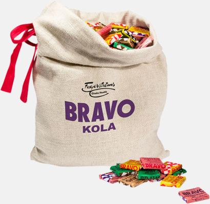 Julsäckar fyllda med BRAVO kolor