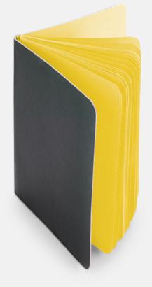 Gul Block med färgade sidor - med reklamtryck