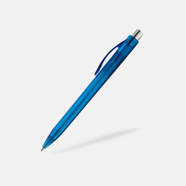 Blå Transparenta pennor med reklamtryck