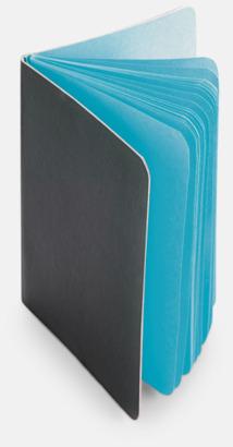 Ljusblå Block med färgade sidor - med reklamtryck