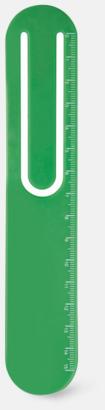 Grön Linjal, bokmärke & gem med reklamtryck