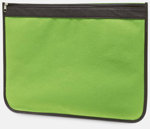 Ljusgrön Dokumentfodral med reklamtryck