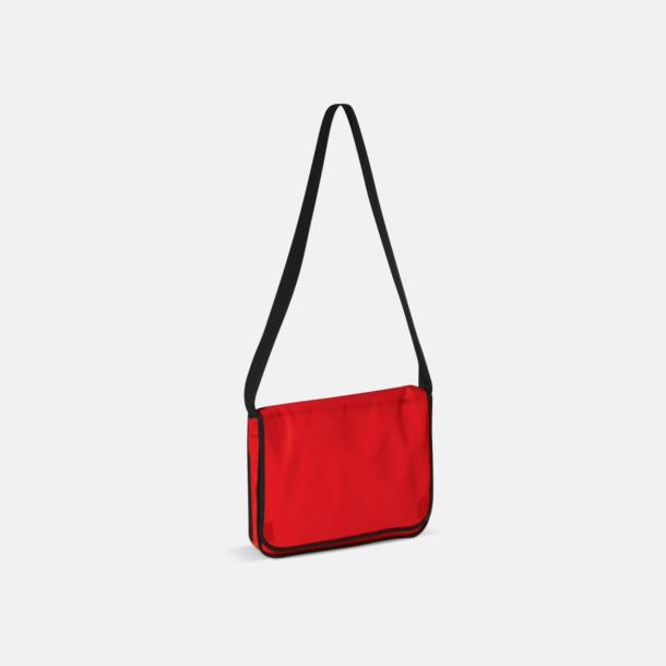Röd Messengerbagar i non woven med reklamtryck